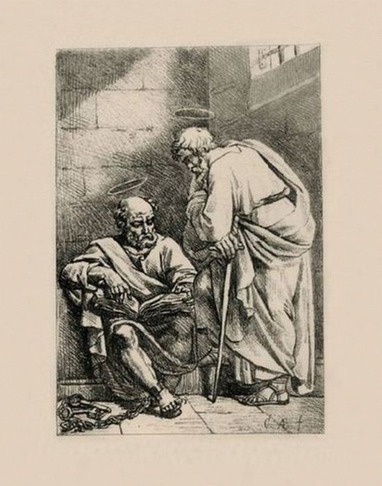 """Alexey Egorovich Egorov. A sketch of """"the Apostles Peter and Paul"""""""