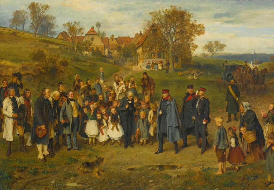 Ludwig Knaus. Noble travelers