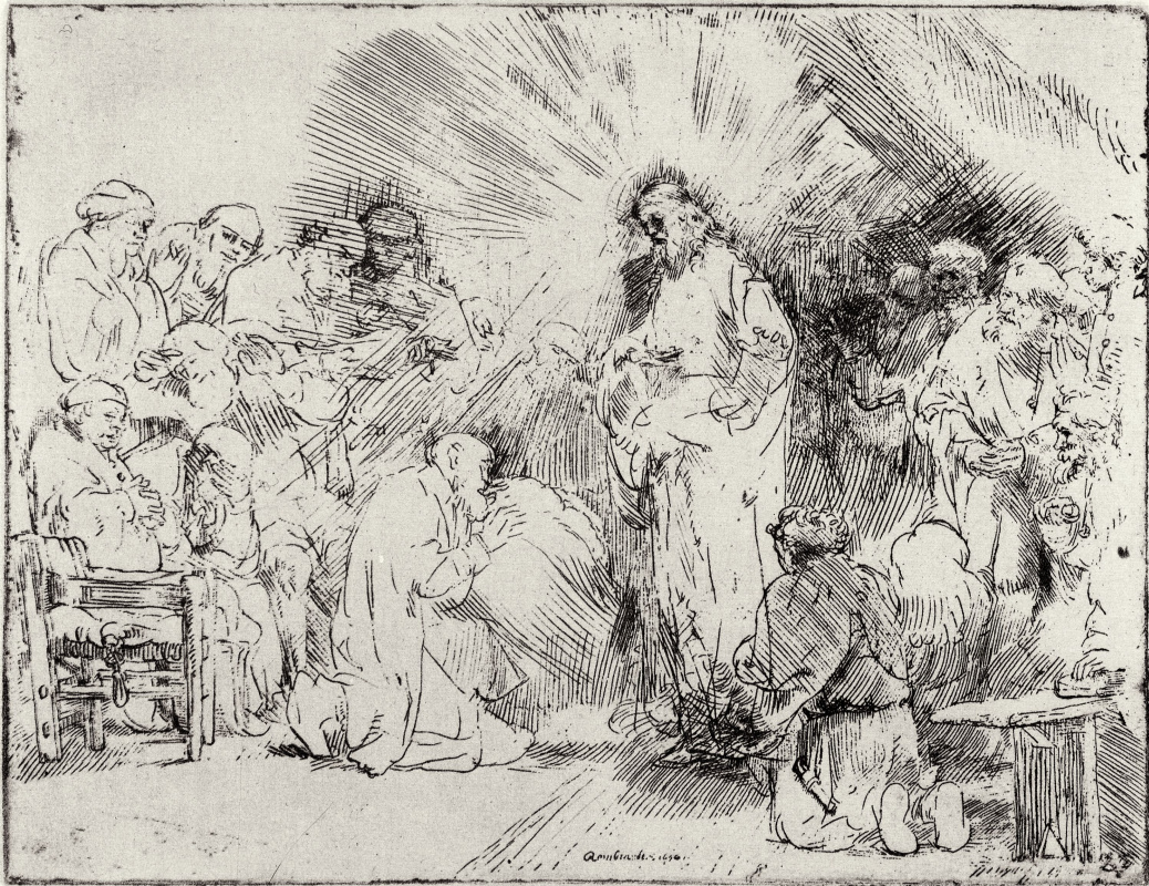 Рембрандт Харменс ван Рейн. Христос предстаёт перед учениками