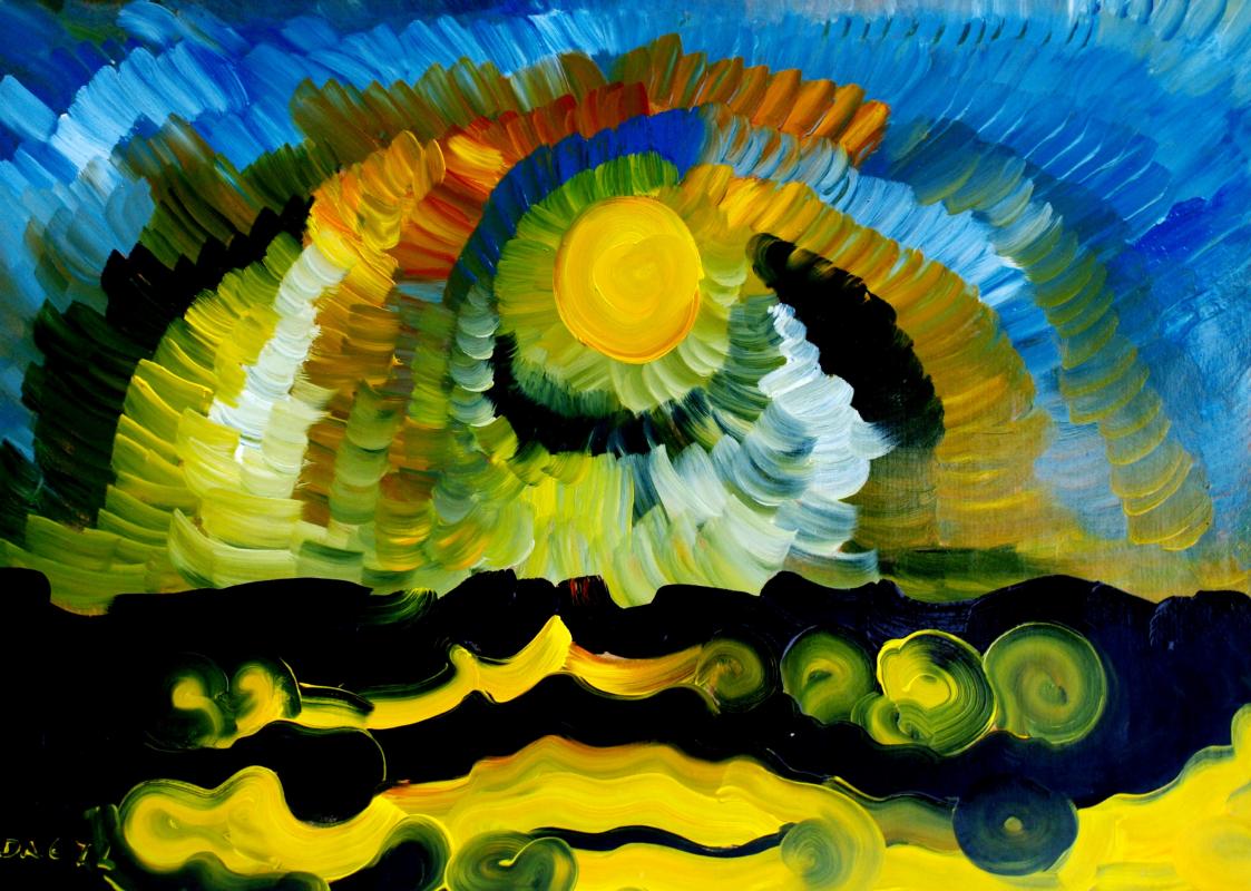 Alexander Ocher Kandinsky-DAE. Full moon (Series - Seascape. Black Sea. Crimea).