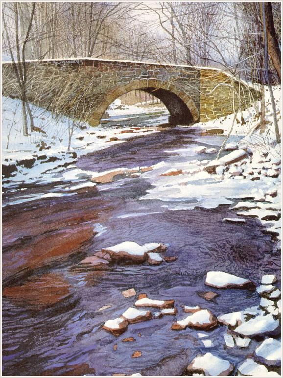 Дональд Паттерсон. Мост зимой