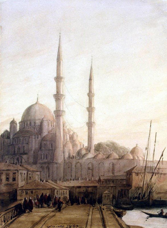 Joseph Frisero. View of the mosque Yeni-Djami mosque in Constantinople
