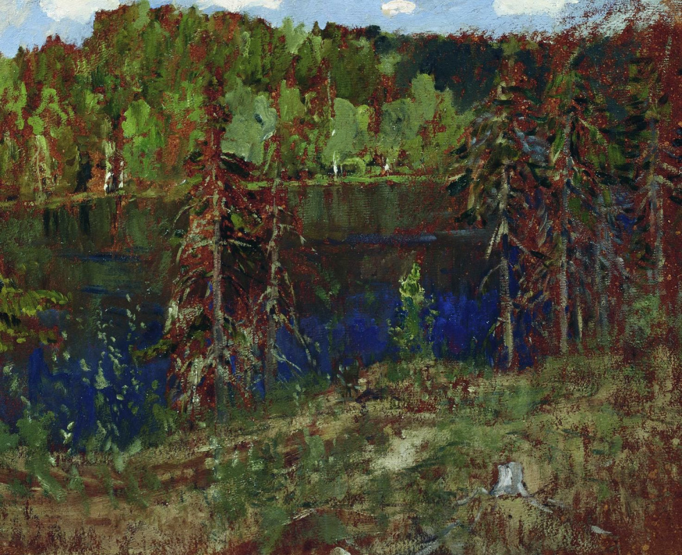 Исаак Ильич Левитан. Озеро в лесу