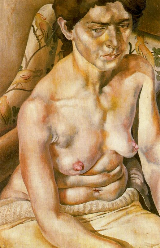 Stanley Spencer. Seated Nude Woman