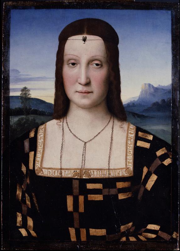 Raphael Sanzio. Portrait Elisabetta Gonzaga