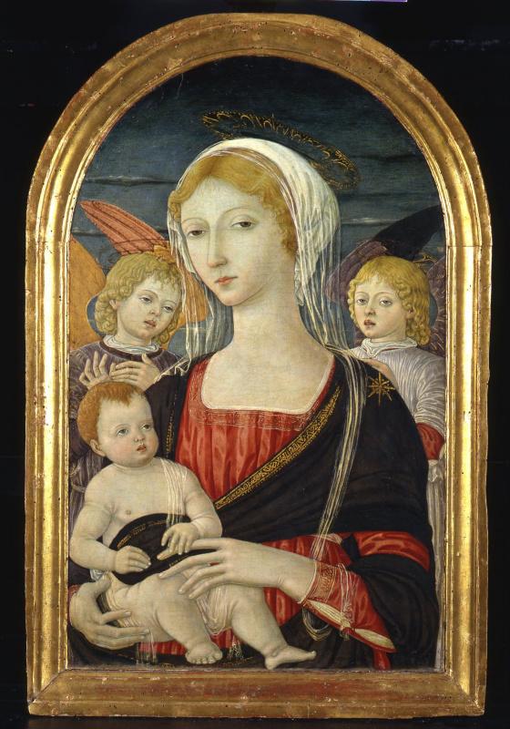 Маттео ди Джованни. Мадонна с младенцем и ангелами