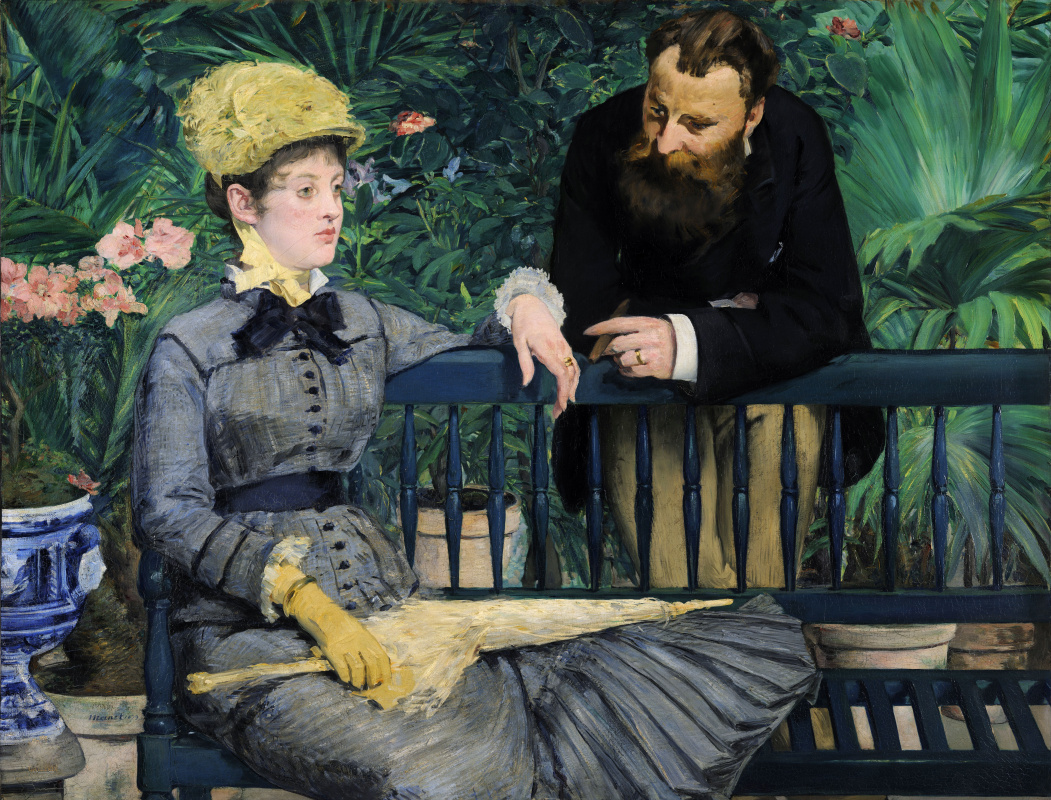 Edouard Manet. In the greenhouse