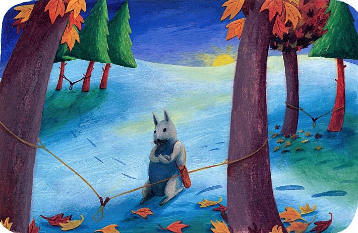 Debbie Lush. Rabbit and moon man