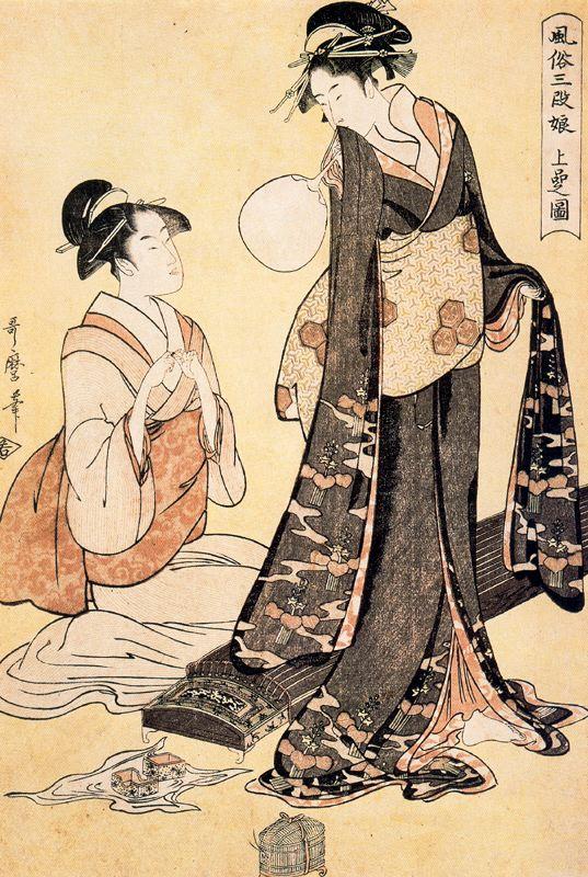 Китагава Утамаро. Воробей Йошивара