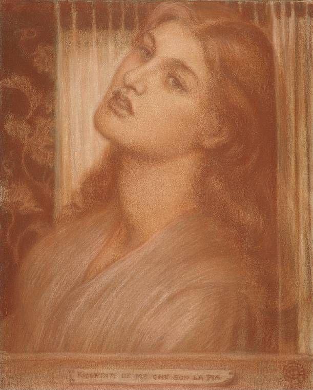 Dante Gabriel Rossetti. Pia de Tolomei. Sketch