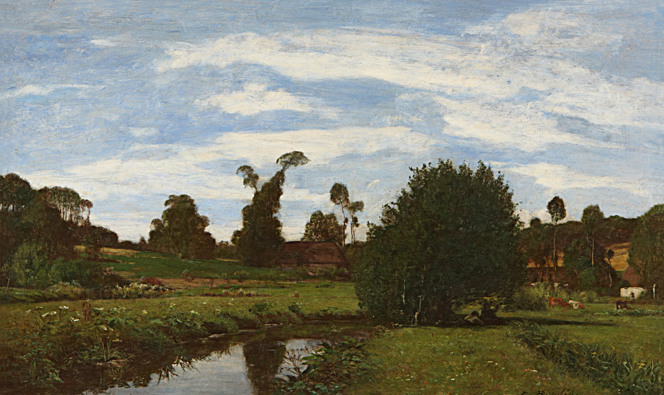 Eugene Boudin. Normandy Landscape