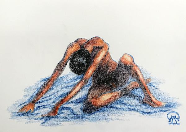 Larissa Lukaneva. Nude. The man.