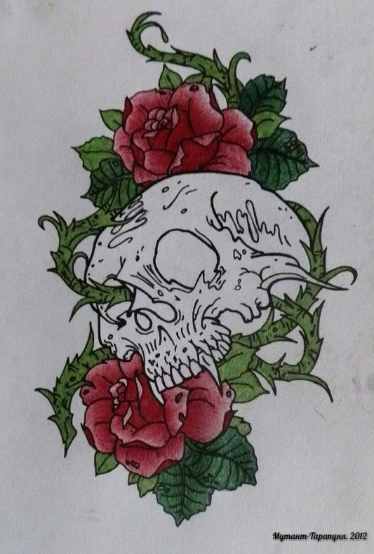 Alexey Olkhovatsky. Old School Skull