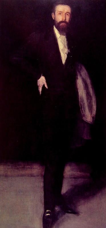 Джеймс Эббот Макнейл Уистлер. Композиция в черном: Портрет Ф.Р. Лейланда