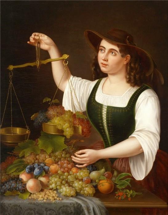 Джордж Фостер. Продавщица винограда