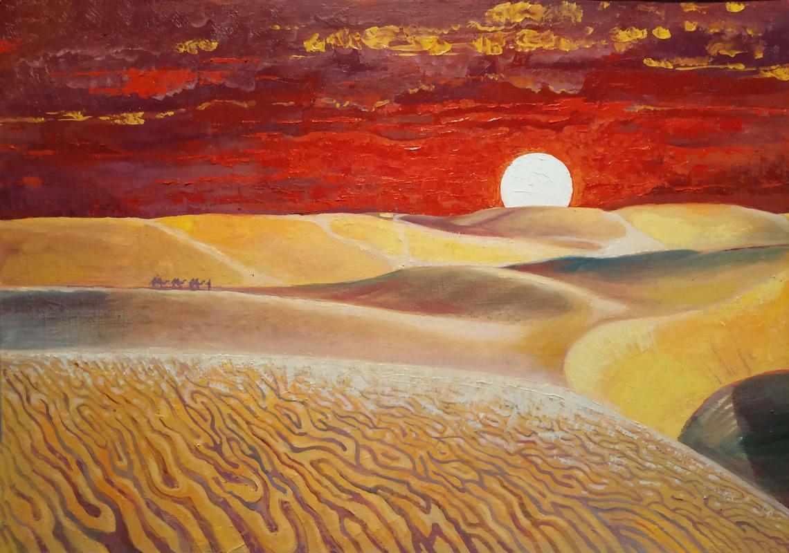Tanya Ivanenko. Red sunset