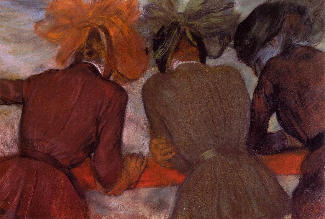 Эдгар Дега. Женщины на балконе