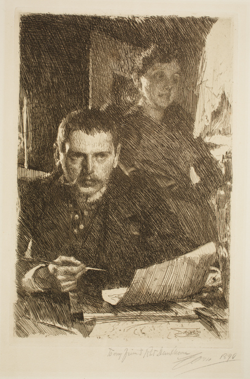 Андерс Цорн. Андерс Цорн и его жена