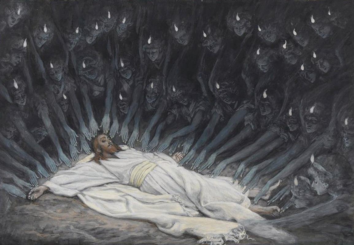 Джеймс Тиссо. Иисус в окружении ангелов