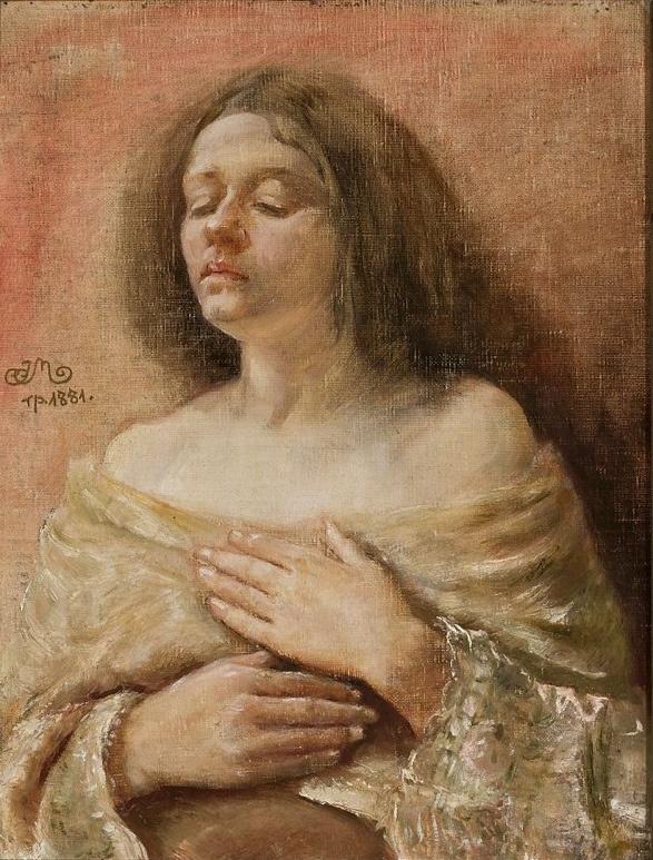 Ян Матейко. Портрет молодой женщины