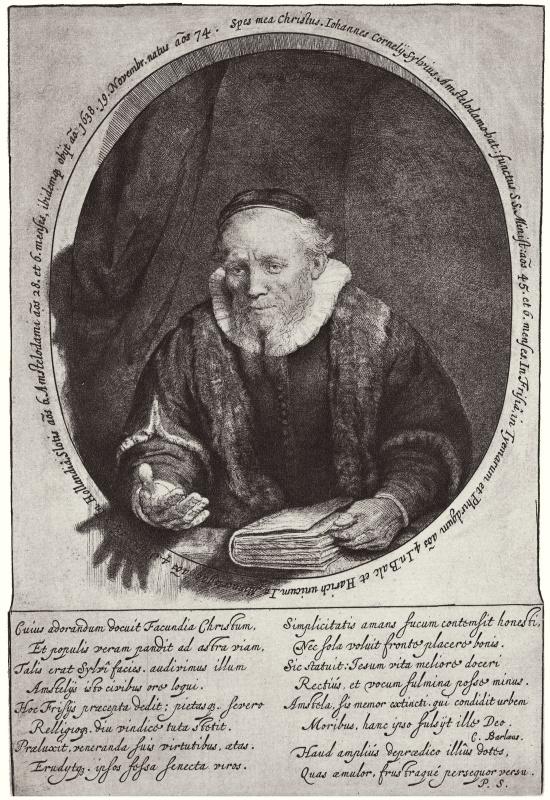 Rembrandt Harmenszoon van Rijn. Portrait Of Jan Cornelis Sylvia