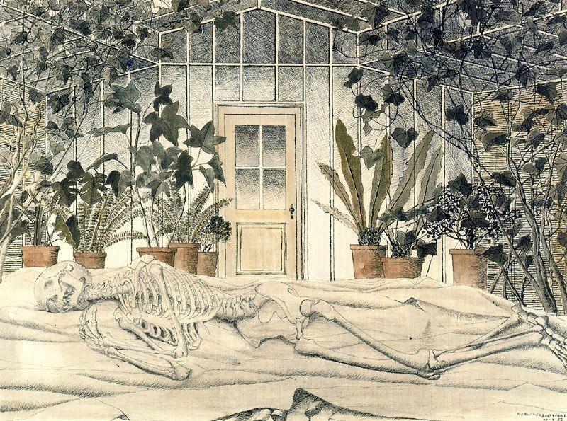 Поль Дельво. Скелет