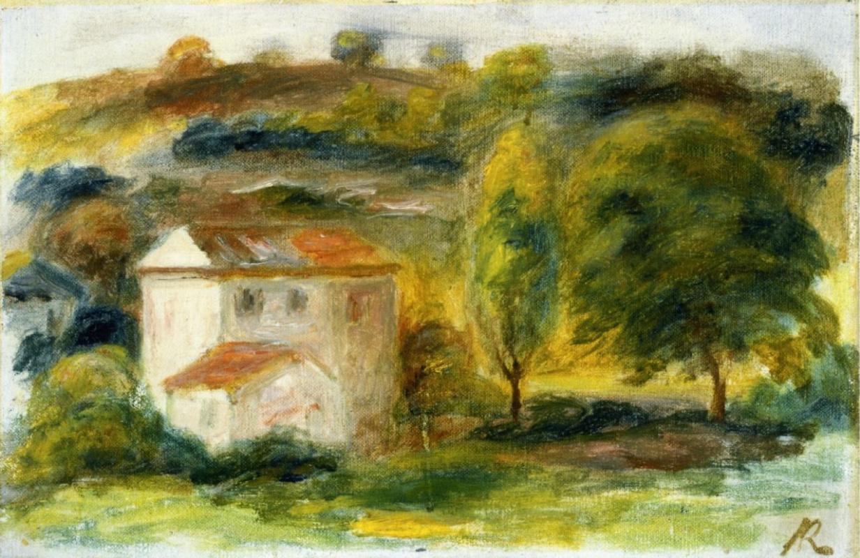Пьер Огюст Ренуар. Пейзаж с белым домом