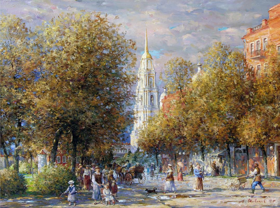 Alexander Victorovich Shevelyov. Autumn on Kazan. Oil on canvas 60.7 x 80.7 cm. 2010
