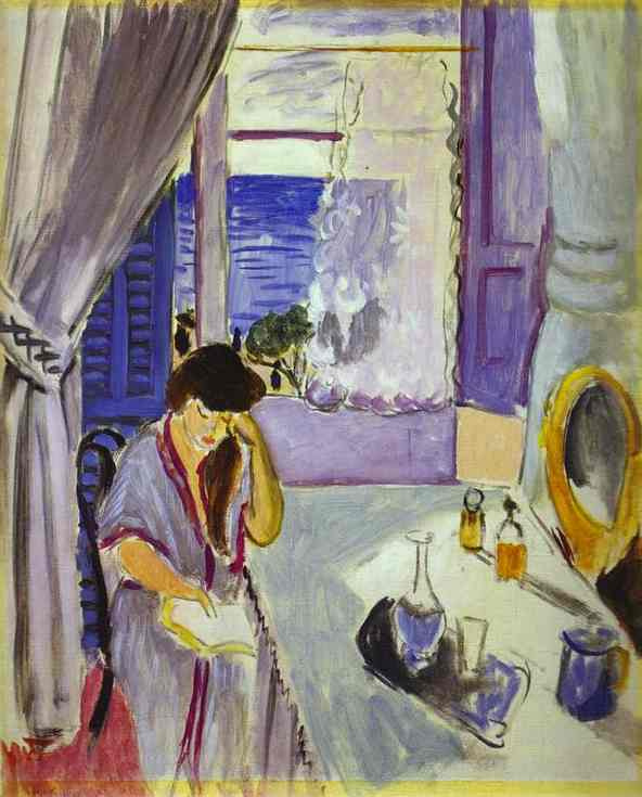 Henri Matisse. Woman reading at a dressing table