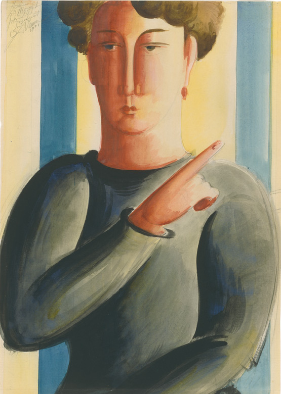 Oscar Schlemmer. Man pointing