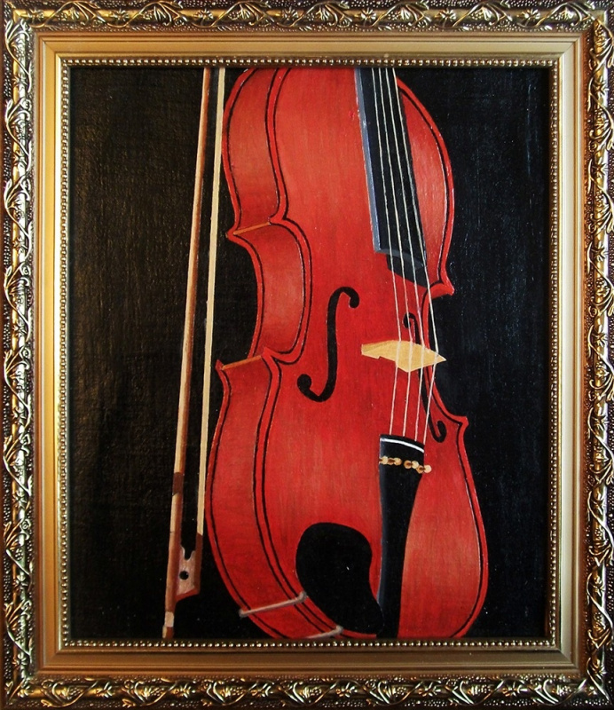 Victor Petrovich Burmin. Study with violin # 6.