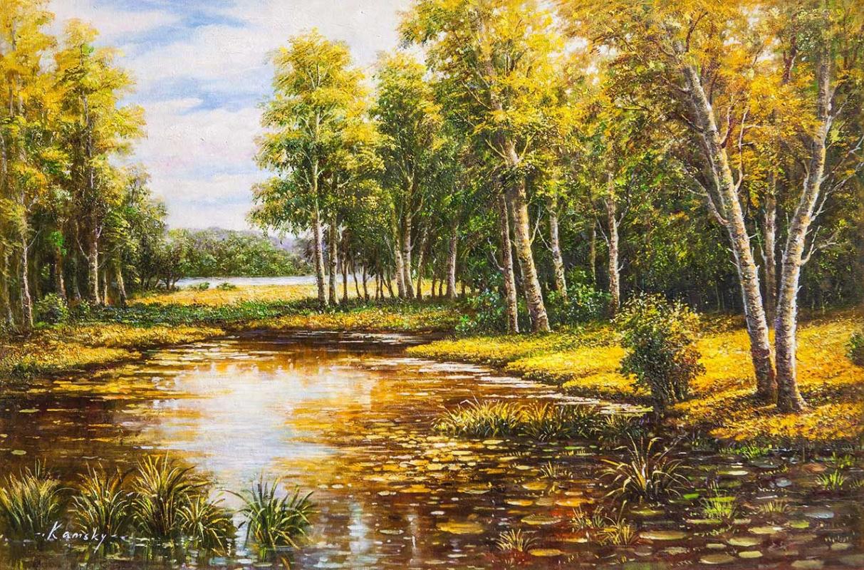 Savely Kamsky. On a sunny day by the pond