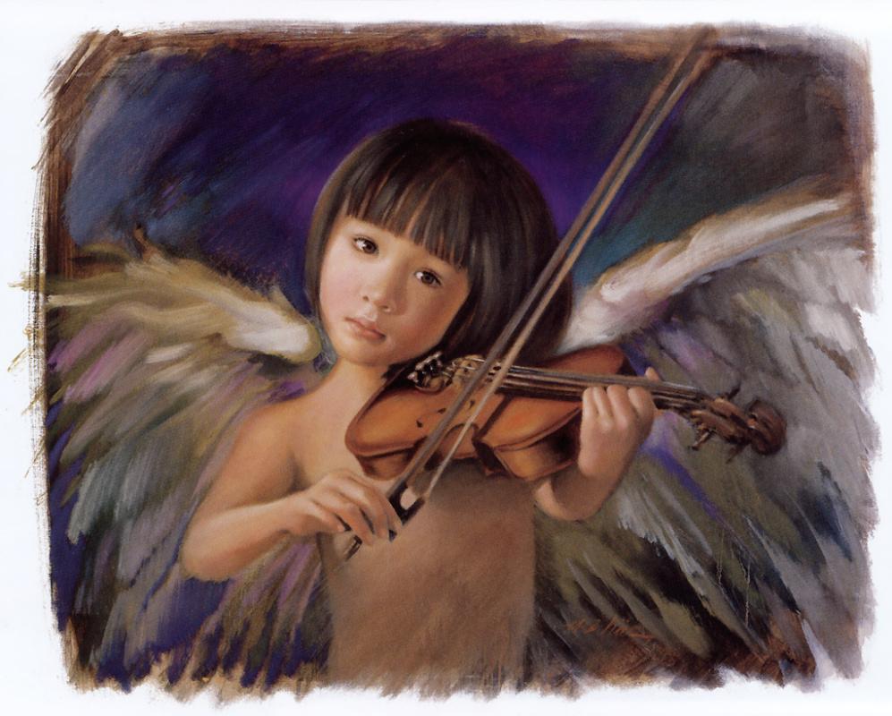 Nancy Noel. Angel with violin