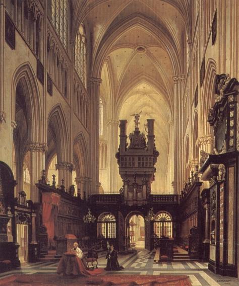 Фигуры в хоре собора