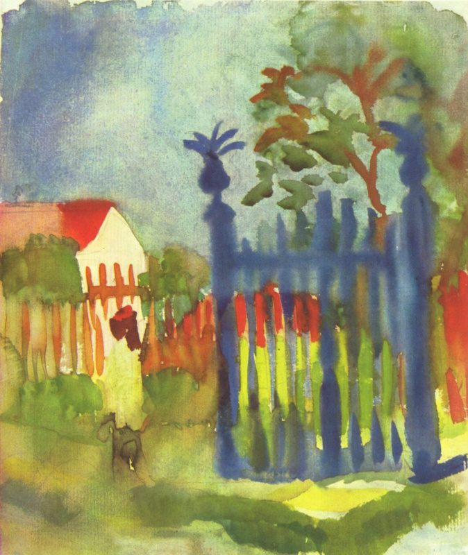 August Mac. Garden gate