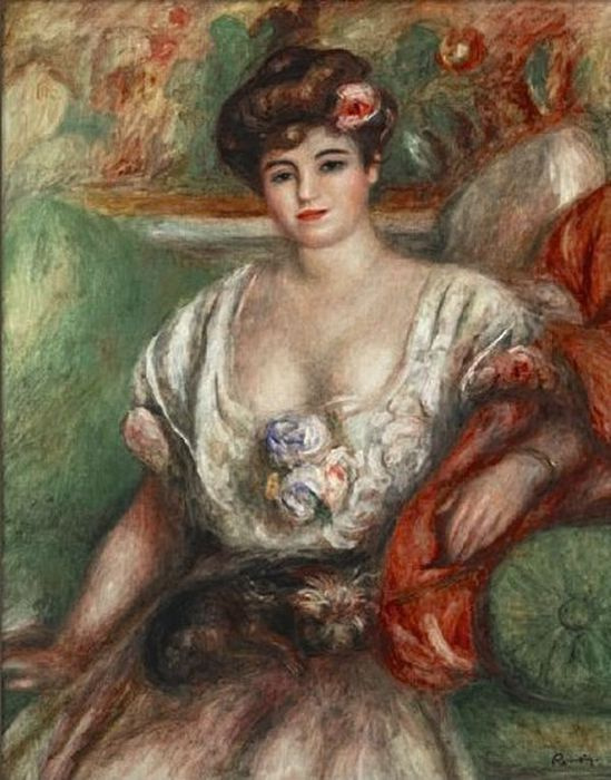 Pierre Auguste Renoir. Portrait of Mysia Sert (Girl with a griffin)
