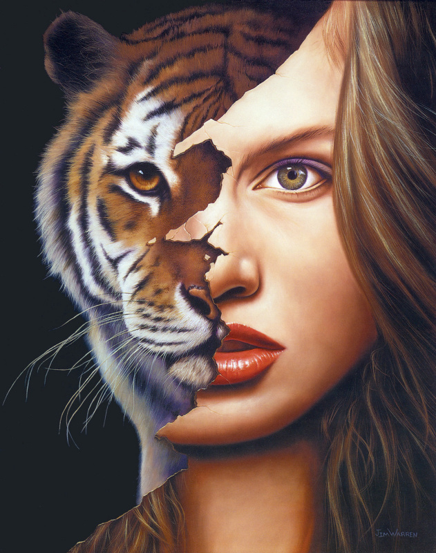 Девушка-тигрица