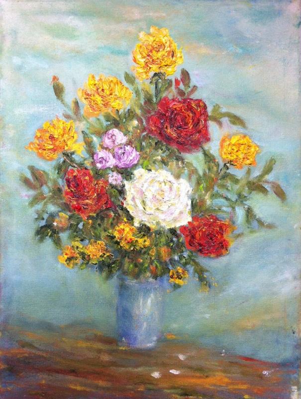 Rita Arkadievna Beckman. Roses