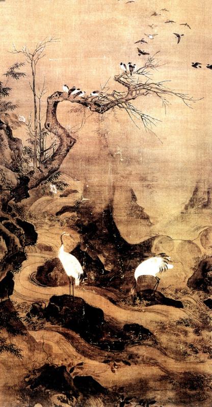 Ли Цзи. Пейзаж с цаплями 076