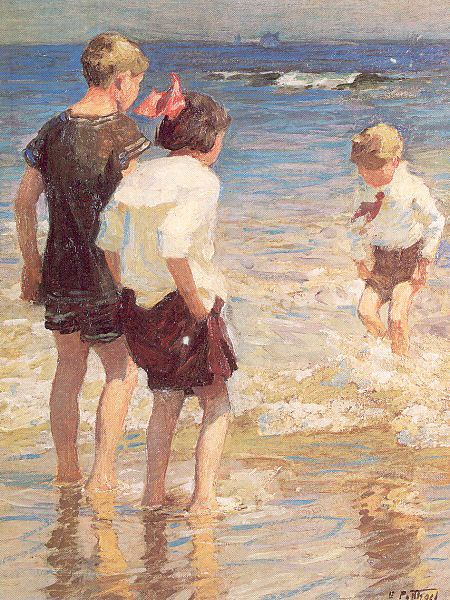 Эдвард Генри Поттаст. Дети на берегу