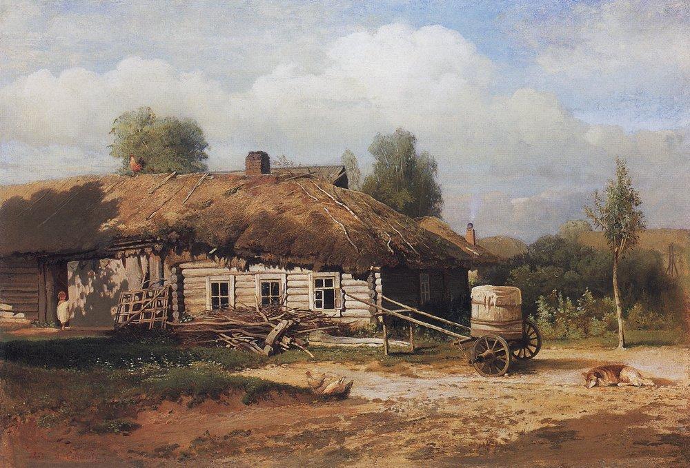 Алексей Кондратьевич Саврасов. Пейзаж с избушкой