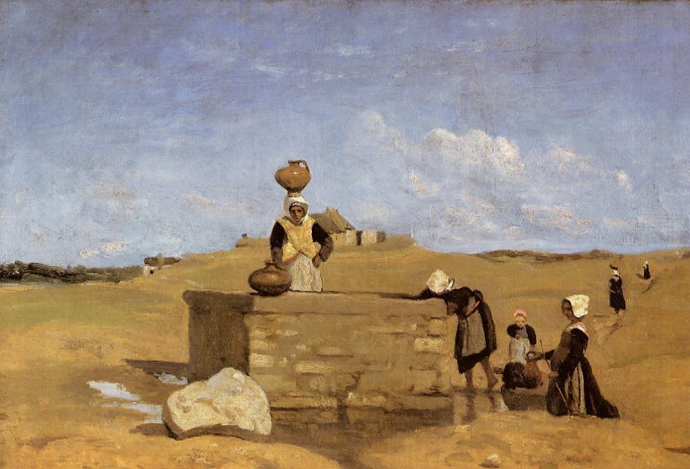 Камиль Коро. Бретон у фонтана