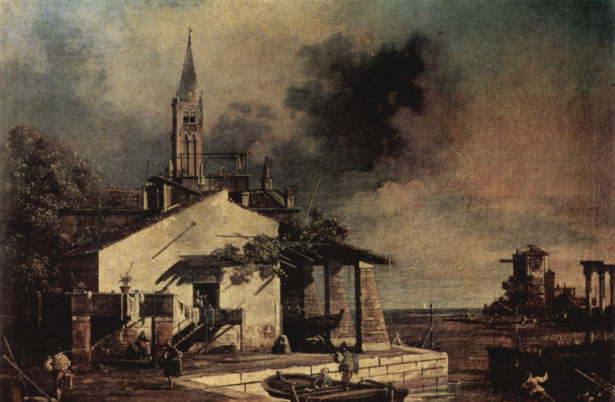 Джованни Антонио Каналь (Каналетто). Вид на лагуну