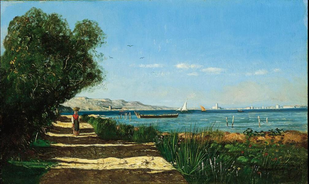 Поль-Камилл Гигу. Пейзаж в Мартиге