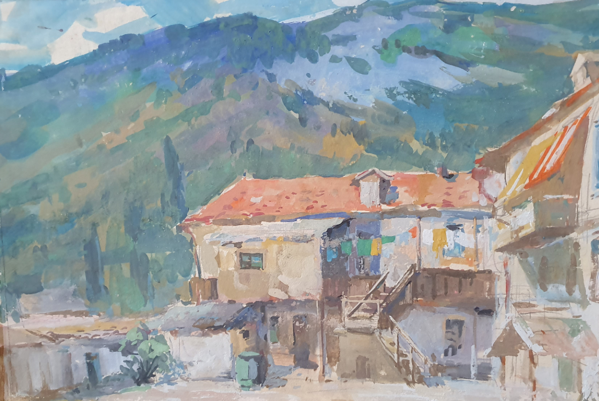 David Pilko. Mountain courtyard