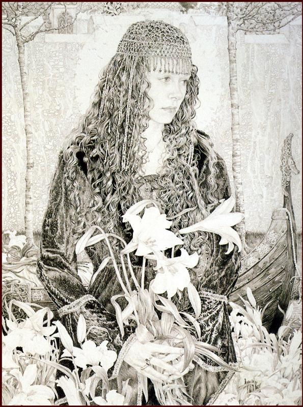Эд Орг. Дева с лилиями