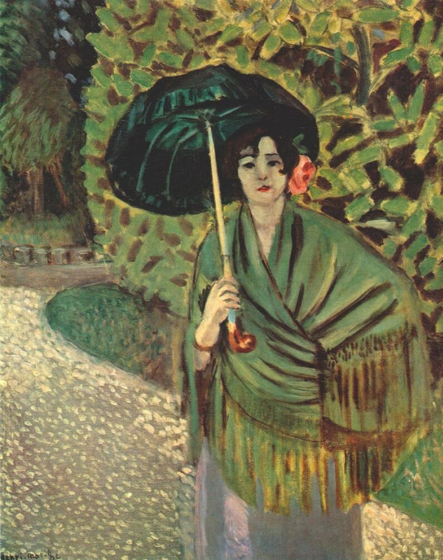 Henri Matisse. Woman with umbrella