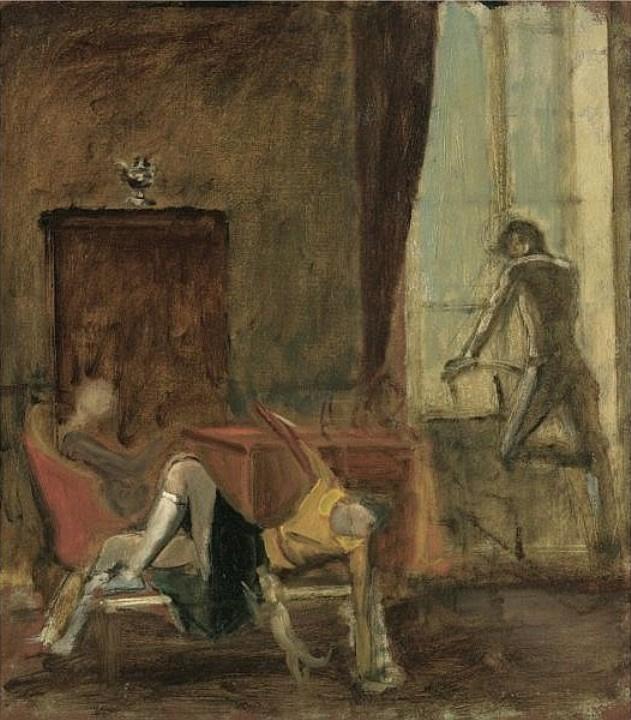 Balthus (Balthasar Klossovsky de Rola). Three in the interior