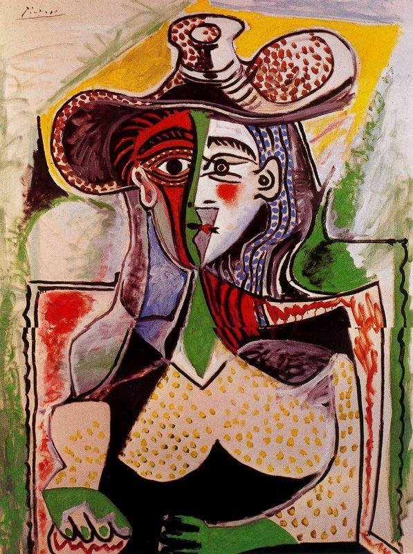 Пабло Пикассо. Женщина в широкополой шляпе