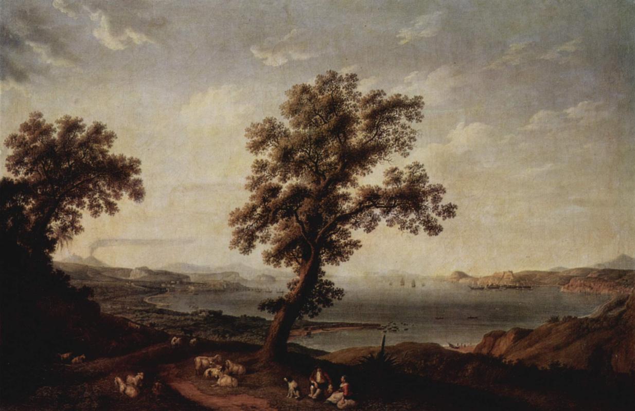 Якоб Филипп Хаккерт. Вид на Неаполитанский залив